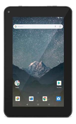 """Tablet Mirage 45T-7 2014 7"""" 16GB preto com memória RAM 1GB  e conexão de telefone celular"""