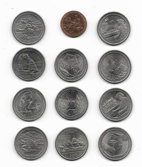 Monedas Conmemorativas U S A Lote De 12 Piezas