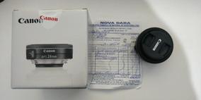 Lente Ef-s 24mm F/2.8 Stm Canon (nunca Usada) Nova