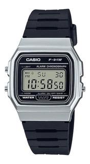 Reloj Hombre Casio F-91wm-7a Plateado Retro / Lhua Store