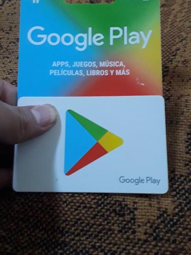 Imagen 1 de 1 de Google Play Tarjeta $500
