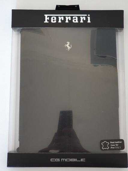 Capa Case iPad 2 3 Couro Ferrari Original
