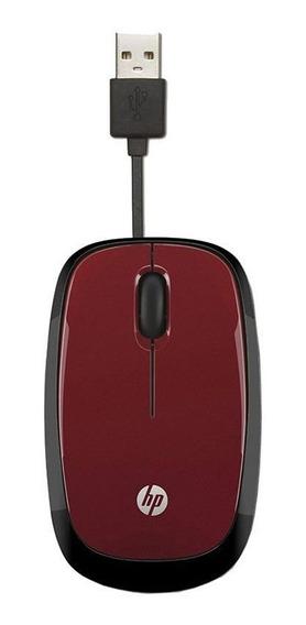 Mouse Hp Usb Retratil Vermelho X1250 23409