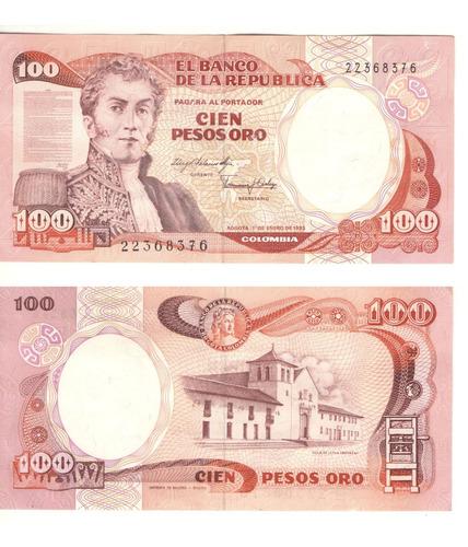 Imagen 1 de 1 de Colombia  100 Pesos Oro 1 Enero 1983