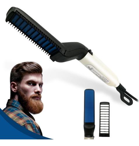 Cepillo Peine Alisador Barba Cabello Hombre Multifuncional