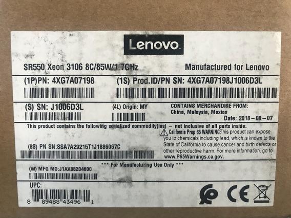 Sr550 Xeon 3106 8c/85w/1.7ghz - 4xg7a07198