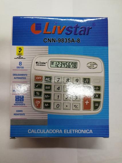 Calculadora Livstar 9835a.multi Função E Resistente.pilha Aa