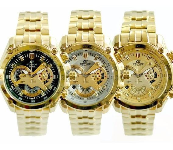 Reloj Casio Edifice Dorado Ef-550fg-1av - 100% Original
