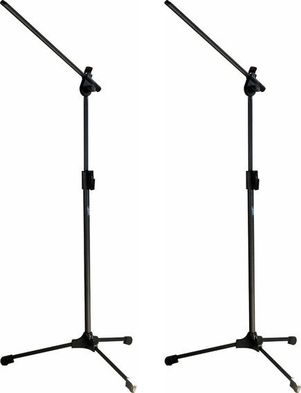 2 Pedestal Suporte Para Microfone Estante Girafa Trava Rapid