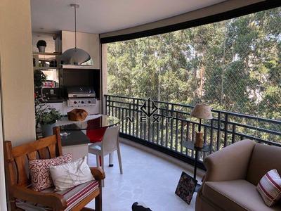 Apartamento Com 3 Suítes À Venda, 206 M² No Edifício Terraços Tamboré - Alphaville - Sp - Ap0176