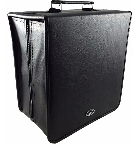 Porta Cd Maleta 400 Cd / Dvd / Blu-ray Couro Gigante