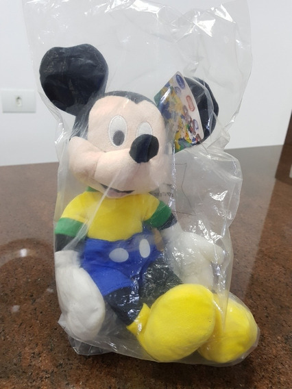 Mickey De Pelúcia Copa Do Mundo Nestlé Coleção Lacrado