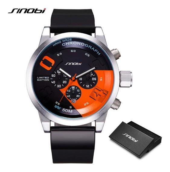 Relógio Sinobi Original Com Box 5atm .