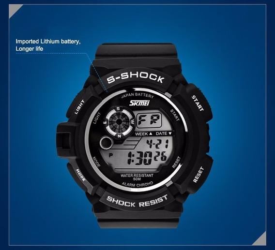 Relógio Masculino Skmei 1222 Digital Preto Com Nf