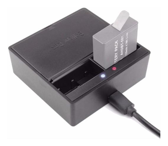Carregador Usb Duplo De Bateria Para Hero 5 Gopro 6 7 Black