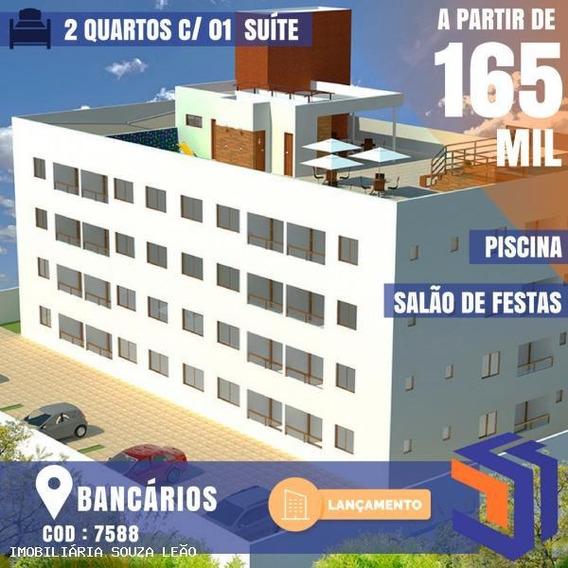 Apartamento Para Venda Em João Pessoa, Bancarios, 2 Dormitórios, 1 Suíte, 1 Banheiro, 1 Vaga - 7588