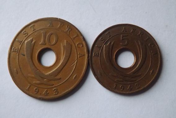 Africa Do Leste- 5 Cents 1942 E 10 Cents 1943- Raras
