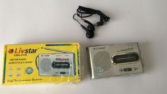10 Unidades Radio Livstar Cnn-812e Am/fm Economico Portatil