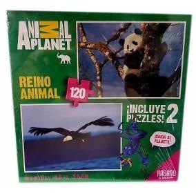 Puzzle Animal Planet - Incluye 2 Puzzles- 120 Piezas -habano