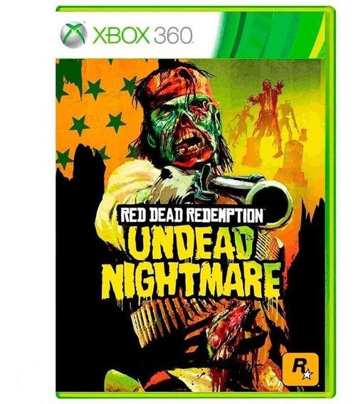 Red Dead Redemption Undead Nightmare Xbox 360 Mídia Física