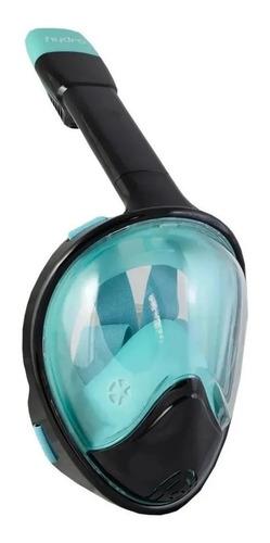Mascara Snorkel Full Face Hydro Star + Soporte Gopro Frontal Anti Empañante Optima Vision Adulto