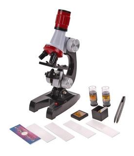 Microscopio Con Luz Led 100x/400x/1200x Potente Accesorios