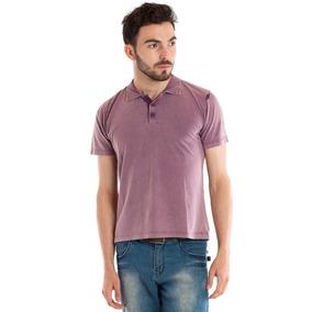 Camisa Polo Manga Curta Violeta 99021