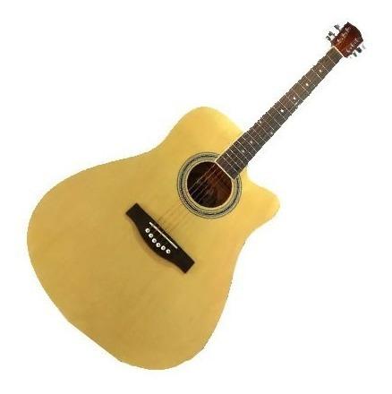 Guitarra Acustica Satinada 41 Natural Abeto Alemán Caoba
