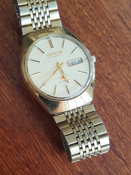 Relógio Original Masculino Automático Citizen Dourado