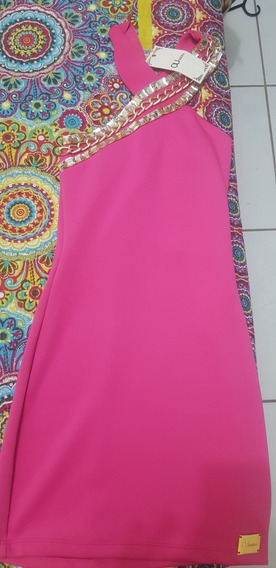 Vestiso Rosa Com Pedraria Pp