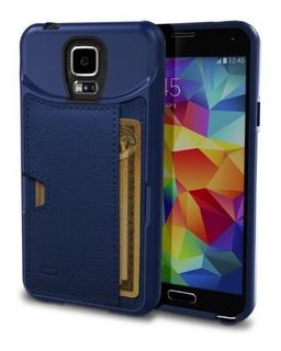 Galaxy S5 Cartera Color Q Tarjeta Carcasa Para Samsung Gala