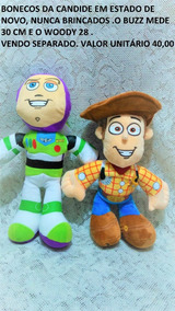 Bonecos Pano Woody Buzz Ligthyear Candide Toy Story H7 @
