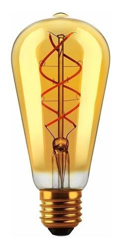 Lámpara Foco Vintage Filamento Led E27 5w Cálida Deco