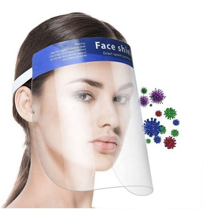 Careta Protectora Face Shield (10 Piezas) Con Esponja