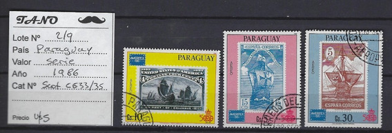 Lote219 Paraguay Serie Completa Año 1986 Scott#c633/35