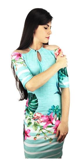 Roupa Feminina Vestido Mileyd Di Bertoni (verde Agua)