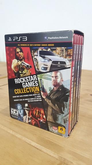 Box Rockstar Collection Ps3 Raro Completo