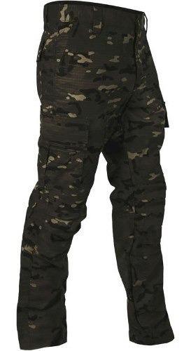 Calça Tática Multicam Black Bravo Camuflada Proteção Uv50+