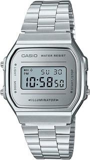 Reloj Casio Vintage Retro A-168wem-7fondo Metalico Joyas Lan