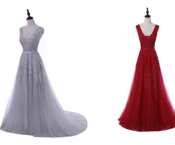 Vestido Longo De Festa Gripe Casamento Madrinha