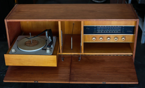 Radio Vitrola Semp Hf 450 Antiga Reformada