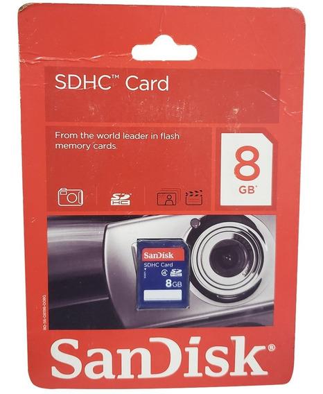 Cartão De Memória Sdhc Disks 8gb Sandisk Classe 4 Envio Ja