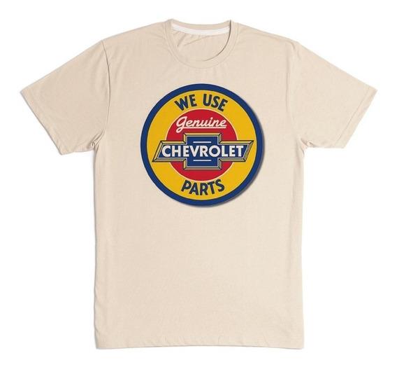 Camiseta Masculina Chevrolet Parts Genuine Estampada