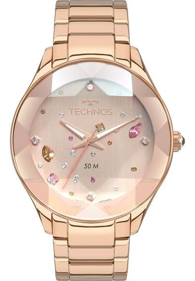 Relógio Technos Rose Feminino Elegance Crystal 2039ca/4t
