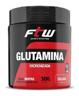 Glutamina Micronizada Isolada 300g Sabor Neutro - Ftw