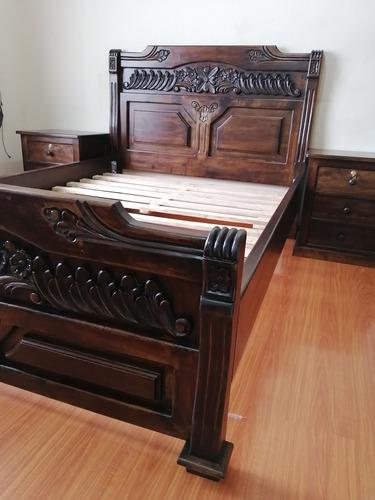 Juego De Dormitorio Rústico, Camas, Muebles