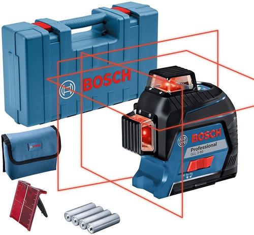 Imagen 1 de 12 de Nível Láser Compacto Bosch Gll 3-80 - 40m