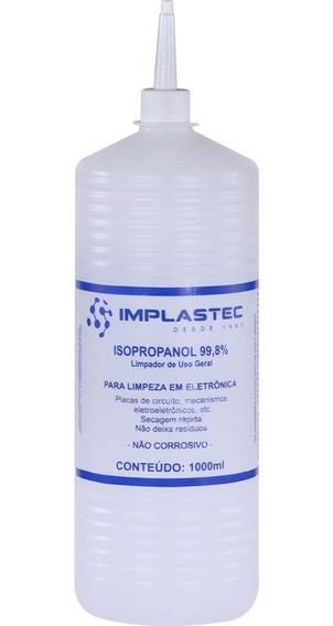 Álcool Isopropílico 1 Litro Com Bico Aplicador - Implastec