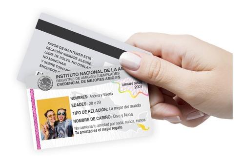 Imagen 1 de 1 de Credenciales Mejores Amigas Amigos Personalizadas De Pvc