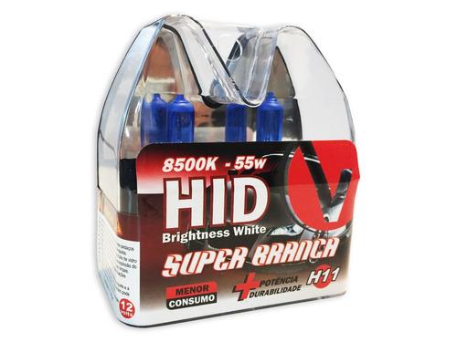 Lampada H11 Super Branca Par Tipo Xenon